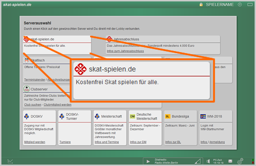 Screenshot - Serverauswahl