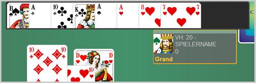 Screenshot offene Karten des Alleinspielers