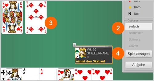 Screenshot Spielansage